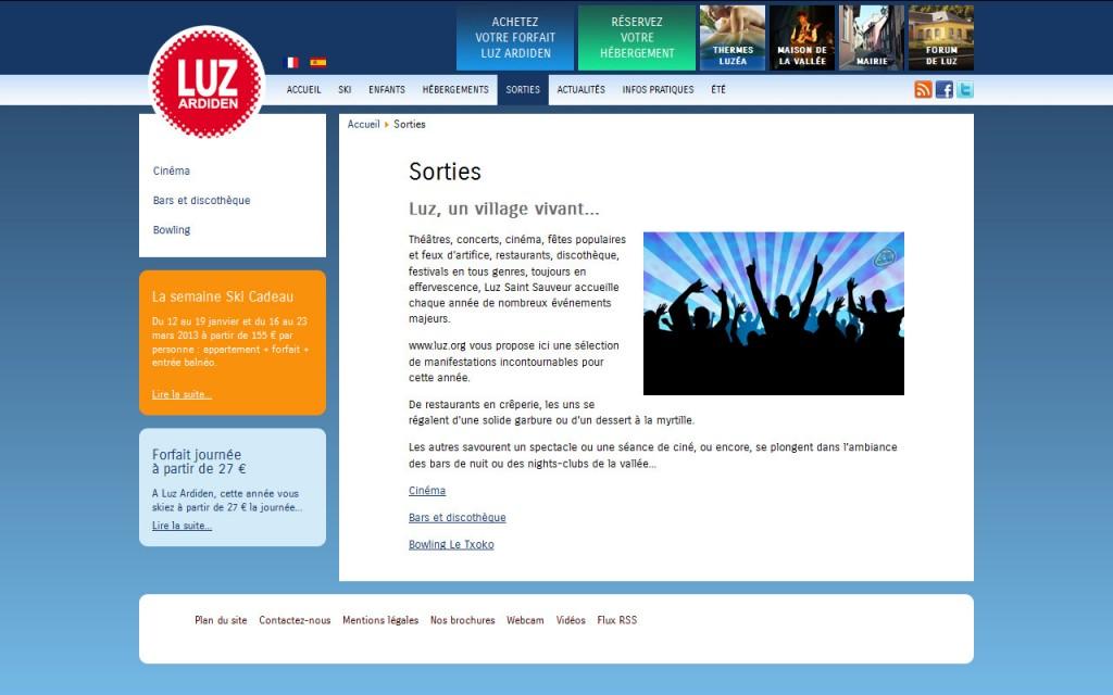 Nouvelle version du site pour luz.org