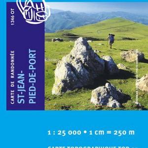 Carte Ign 1346OT Saint-Jean-Pied-De-Port/Saint-Etienne-De-Baîgorry/Vallee des Aldudes
