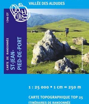 Carte ign 1346ot saint jean pied de port saint etienne de ba gorry vallee des aldudes - Saint jean pied de port carte ...