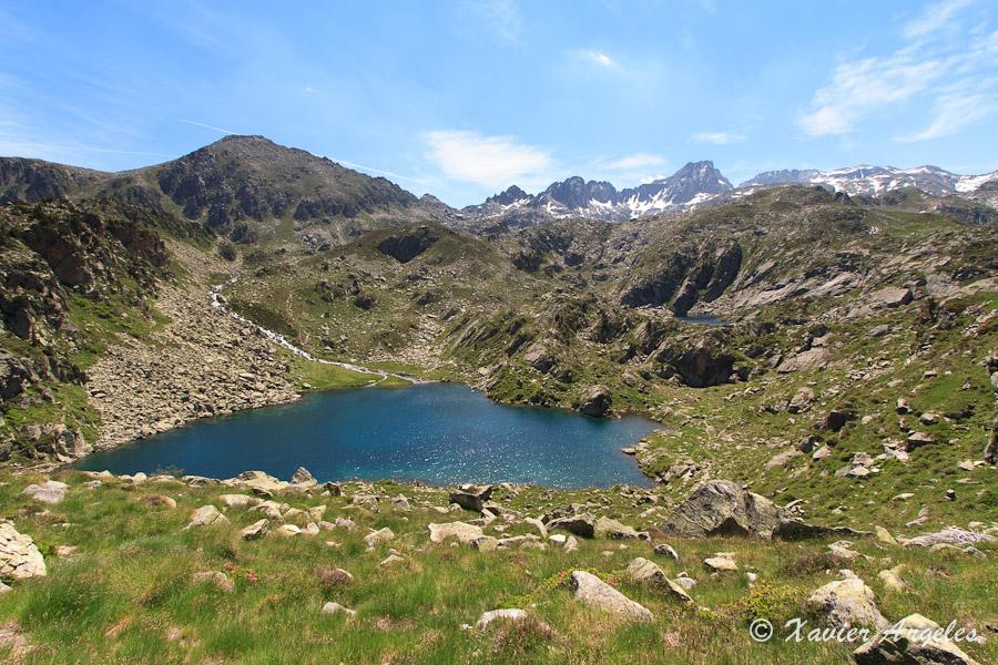 Randonnée au lac de la Glère (en 2007)
