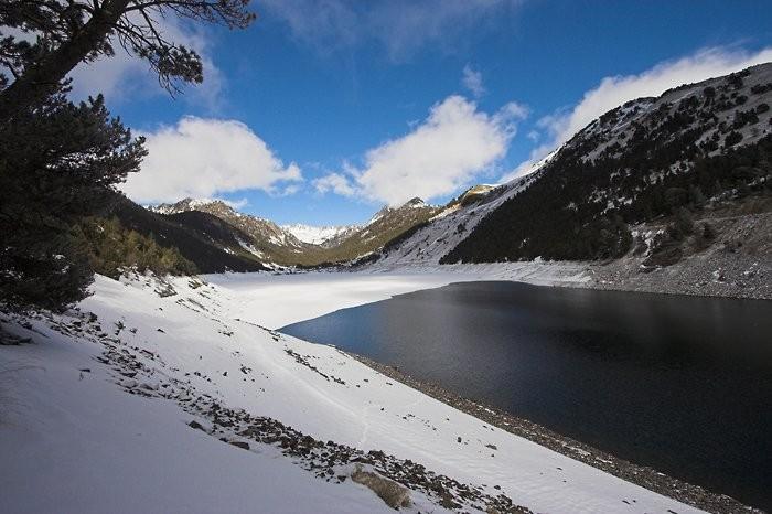 Lac de l'Oule en hiver