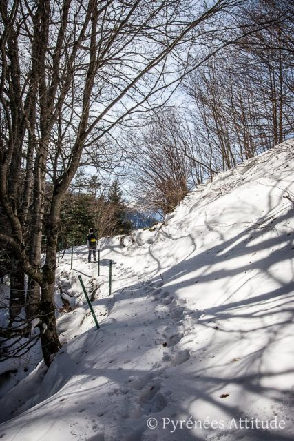 Randonnée vers le cirque de Lis en hiver